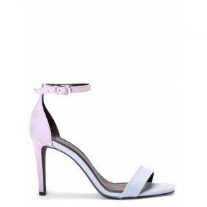 Sandália Salto Fino Bicolor