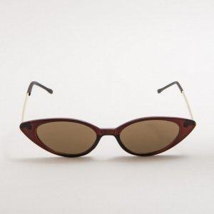 Óculos De Sol Slim Cat Eye Marrom Tamanho: U - Cor: Marrom