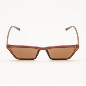 Óculos De Sol Quadrado Classic Marrom Tamanho: U - Cor: Marrom