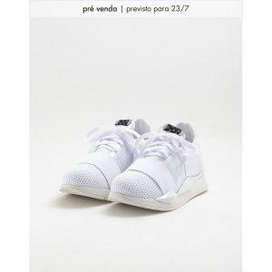 Tênis Jogging Diamante Vinil Branco Tamanho: 40 - Cor: Branco