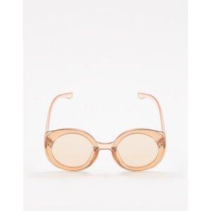 Óculos De Sol D-Frame Round Nude Tamanho: U - Cor: Nude