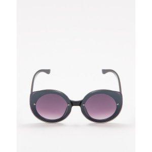 Óculos De Sol D-Frame Round Preto Tamanho: U - Cor: Preto