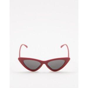 Óculos De Sol Gatinho Slim Vermelho Tamanho: U - Cor: Vermelho