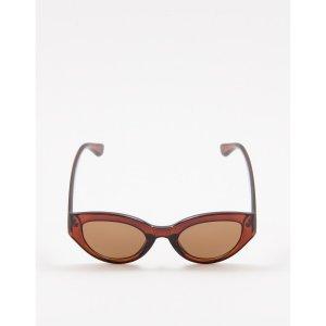 Óculos De Sol Vintage Marrom Tamanho: U - Cor: Marrom