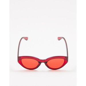Óculos De Sol Vintage Vermelho Tamanho: U - Cor: Vermelho