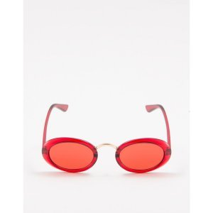 Óculos Retrô Vermelho Tamanho: U - Cor: Vermelho
