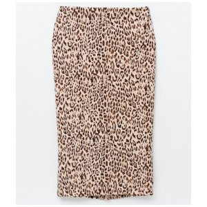 Midi Skirt Animal Print