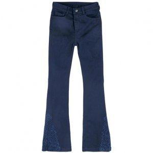 Calça Jeans Feminina Hering Flare Com Estampa Lateral