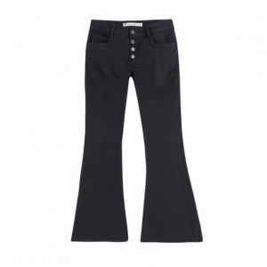 Calça Jeans Feminina Em Algodão Flare Petit