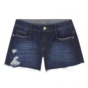 Shorts Jeans Com Barra Desfiada