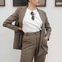 Blazer Oversized Granny Style Tamanho: G - Cor: Marrom
