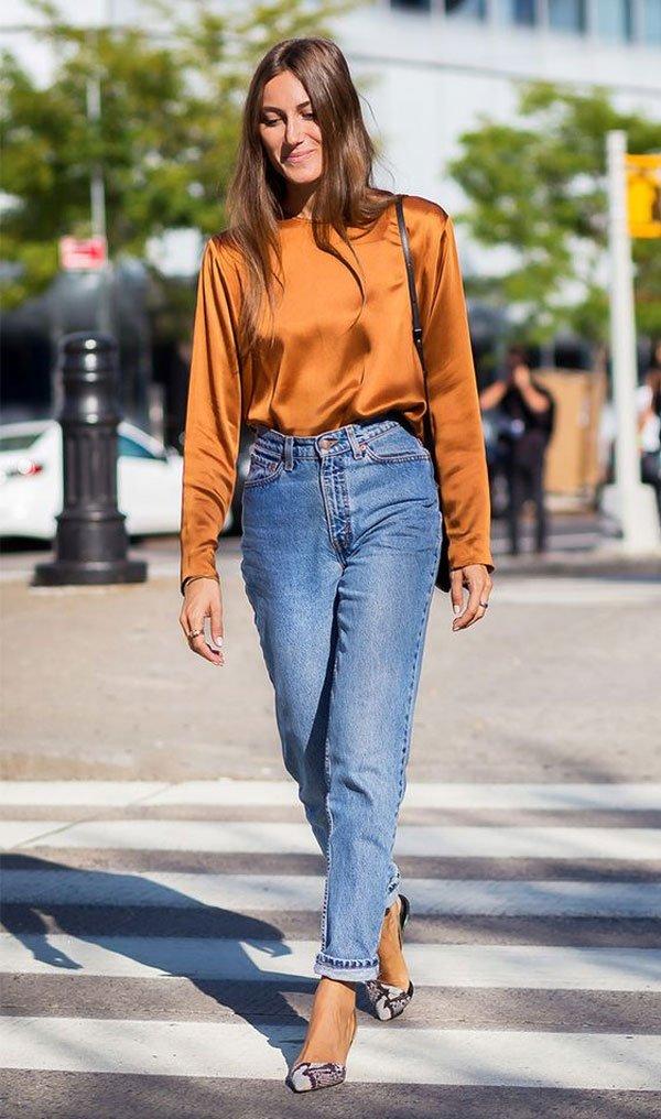 it-girl - blusa-laranja-mom-jeans - mom-jeans - meia estação - street style