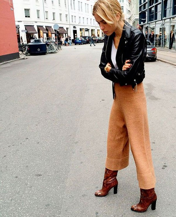 it girl - calca-bege-bota-vermelha - calça - inverno - street style