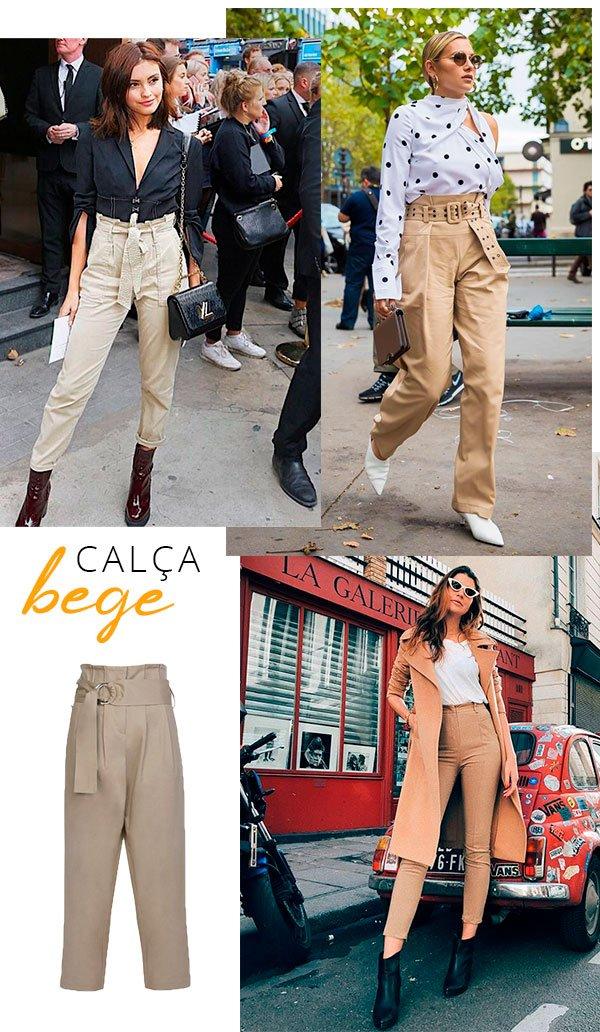 calca bege - looks - fashion - peca - barata