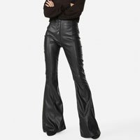 CALÇA FLARE LEATHER