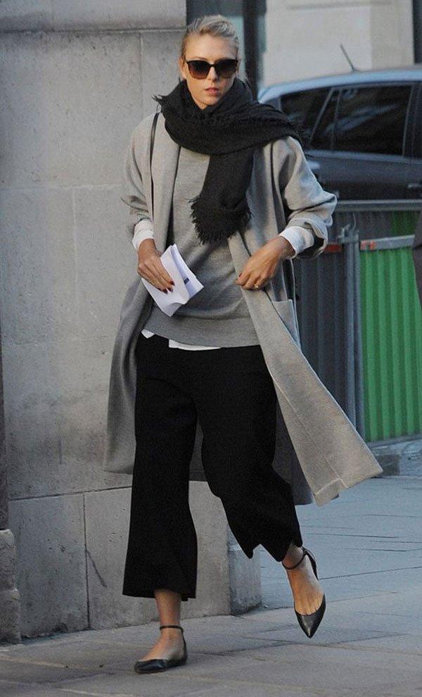 it girl - calca-preta-sapatilha-cachecol - calça - inverno - street style