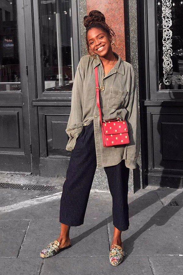 it girl - calca-veludo-cotele-mule-camisa - calça - inverno - street style