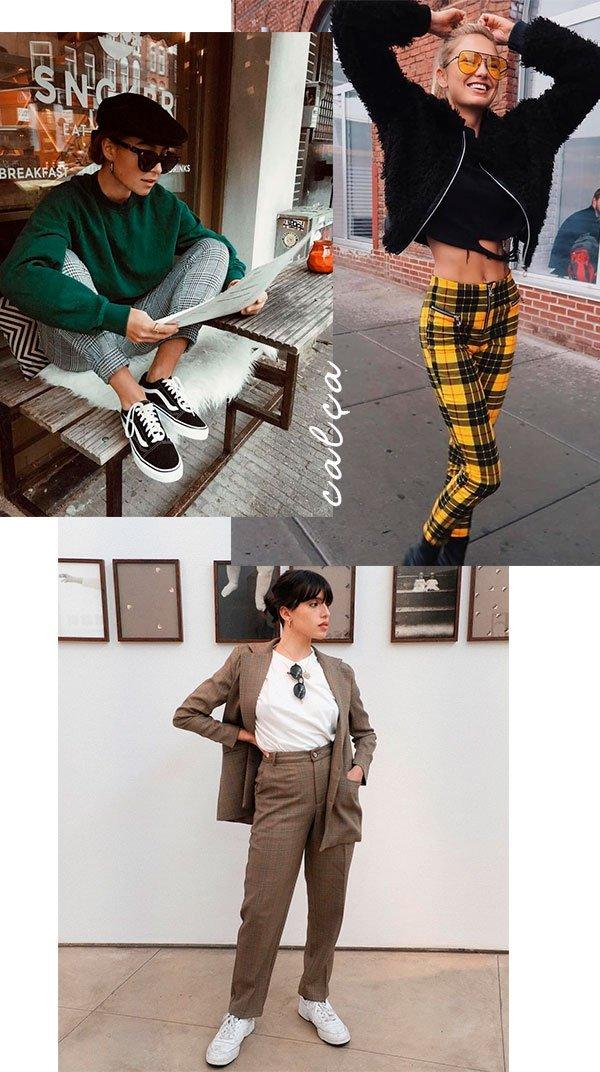 calca - xadrez - looks - moda - omprar