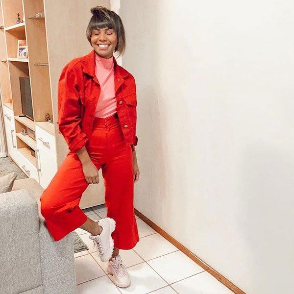 Lari Cunegundes - calca-vermelha-jaqueta-vermelha - calça - inverno - street style
