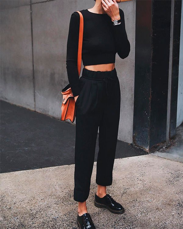 look - all black  - copiar - trend - moda