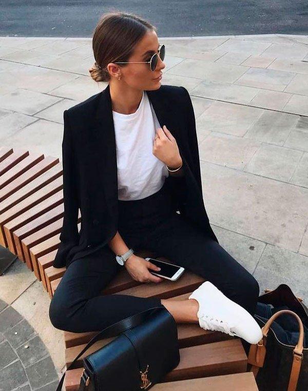 look - black - white - look - moda