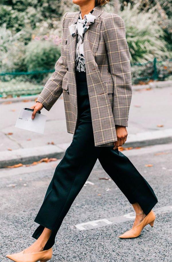 blazer - xadrez - look - moda - trend