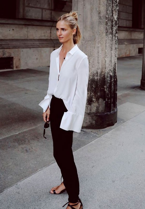 camisa - calca - preta - look - moda