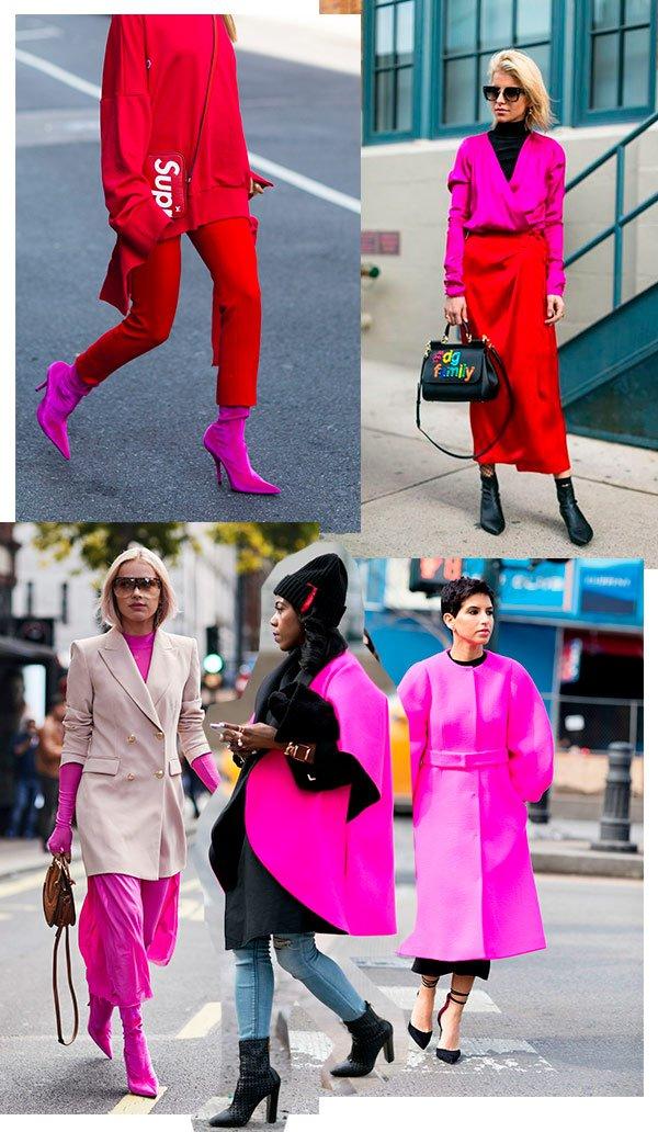 looks - rosa - vermelho - comprar - looks