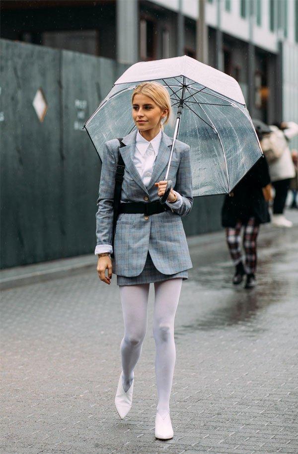 it girl - meia-calca-branca-saia-xadrez - meia-calça - inverno - street style