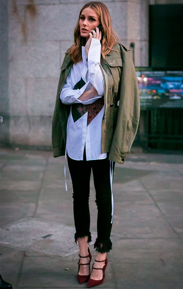 olivia palermo - moda - street style - calca - preta