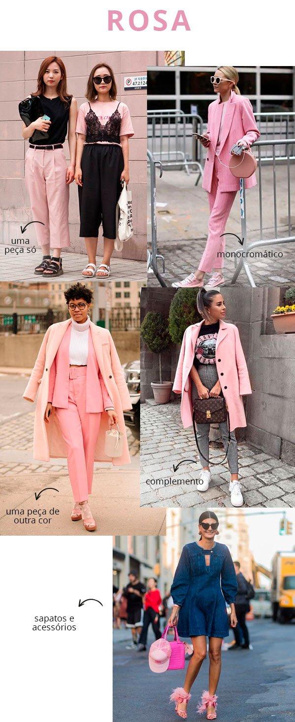 rosa - looks - copiar - como usar - trend