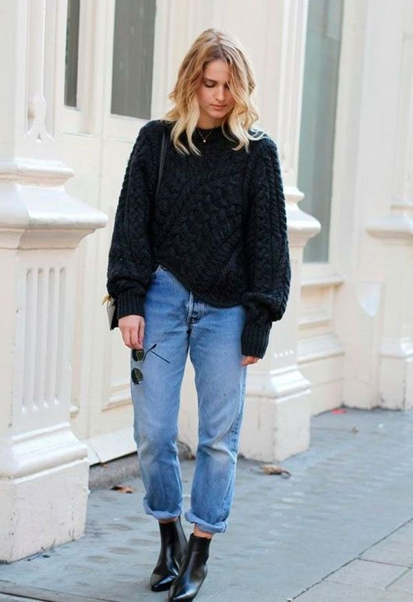 it-girl - sueter-mom-jeans - mom-jeans - inverno - street style