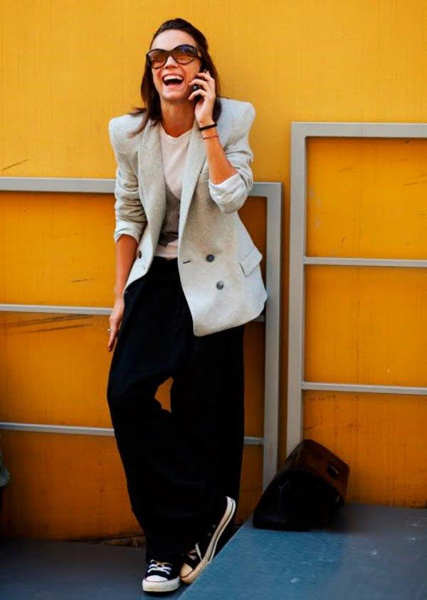 it-girl - t-shirt-blazer-preto-calca-all-star - all star - inverno - street style