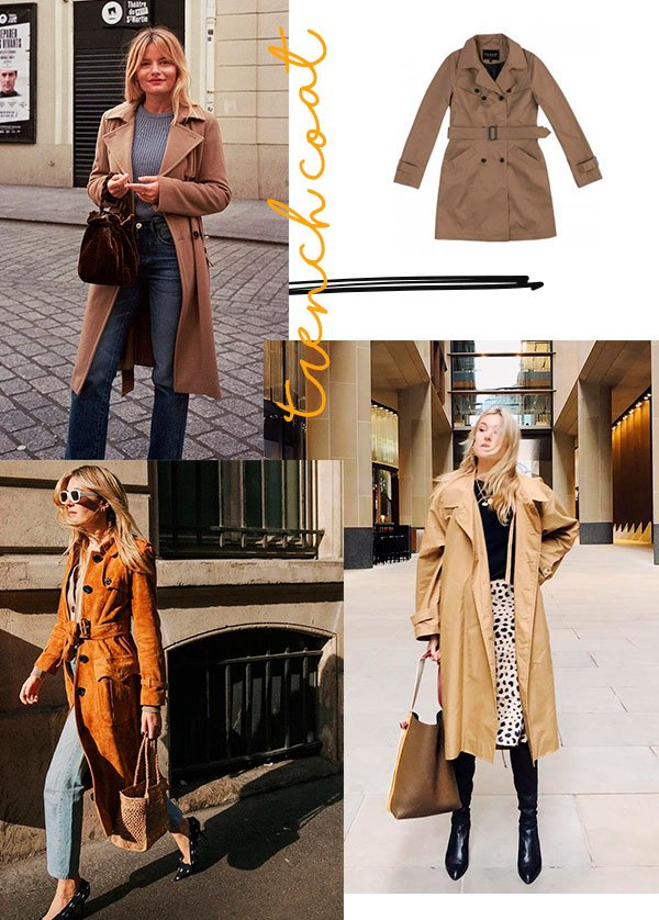 trench coat - fashion - looks - french girl - copiar