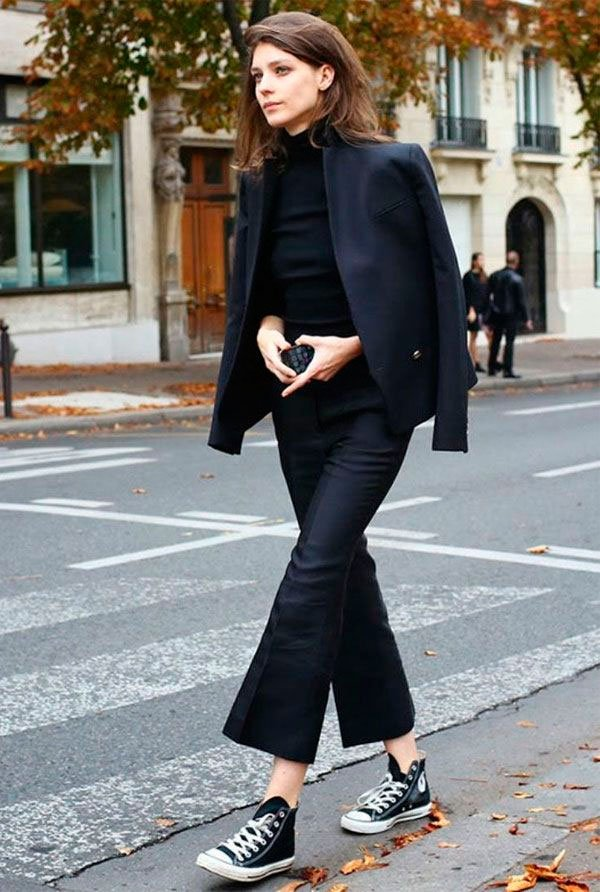 it-girl - turtleneck-blazer-calca-all-star - all star - meia estação - street style
