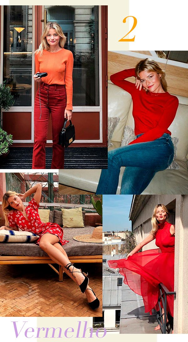 vermelho - sabina socol - looks - french girl - estilo