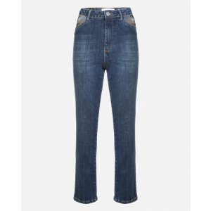 Calça Jeans Slim Recorte Bolso