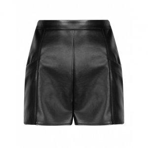 Shorts Leather Botões Laterais