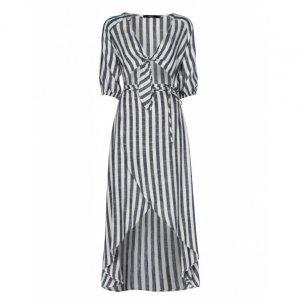 Midi Linen Striped Dress