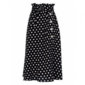 Midi Skirt Buttons With Bow