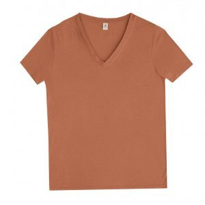 Blusa Feminina Básica Em Malha De Viscose Com Decote V