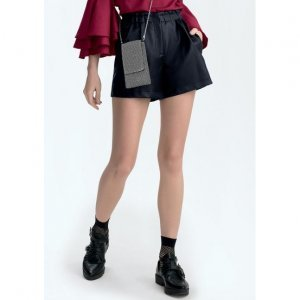 Shorts In Pu Leather With Elastic On The Waistband