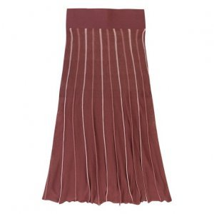 Midi Skirt in Striped Knit