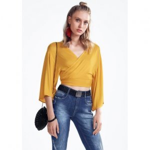 Knit Viscose Knit Blouse With Tightening