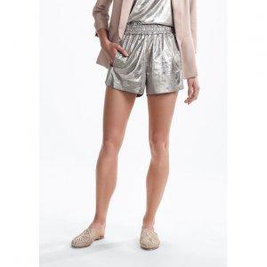 Shorts Em Suede Metalizado
