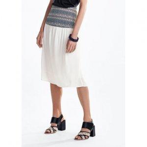 Midi Fabric Skirt And Jacquard Shovel