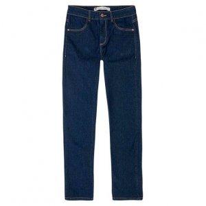 Calça Jeans Regular Feminina Em Algodão Com Cintura Intermediária