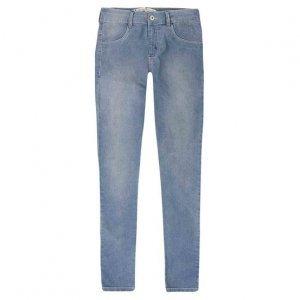 Calça Jeans Feminina Skinny Em Algodão Com Cintura Intermediária