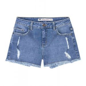 Women's Shorts In Cotton With Foul Bar