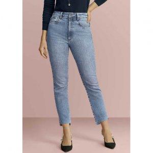 Calça Jeans Com Cintura Super Alta E Barra Degrau Por Vic Ceridono